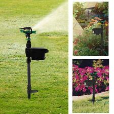 Adjustable Solar Animal Repeller Water Spray Sprinkler Sensor Motion Activated
