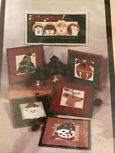 Rejoice Christmas Mini QUilt patterns Santa Claus angels reindeer snowman