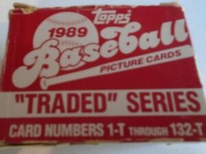 Topps  1989  Baseball  Picture Cards  Traded Series