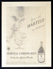 MARTELL CORDON BLEU LIQUEUR BRANDY 1953  BRITISH ADVERT