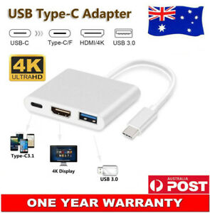 USB 3.1 TYPE-C to HDMI VGA USB 3.0 Charging Hub Adapter for HTC U12 U12+ Life AU