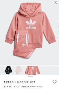 Adidas Oroginals, Girls, BNWT, Tracksuit Set-Pants & Hoodie, Pink, Age 5-6 Years