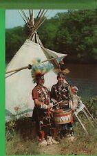 Vintage Native American Indian Postcard Zuni Wisconsin