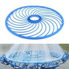 Pro Blue Cast Net Fishing Net Accessory Tool Aluminum Ring Catch Fishing Tool QP