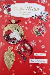 For You Mum a Christmas message Christmas Card