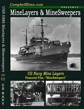 Navy MineLayers and MineSweepers old Films Atlantic War WW2-Free Shipping too