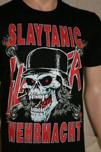 Slayer Slaytanic Wacken Wehrmacht Cruel  Bathory Shirt Metal Festival  S -  M