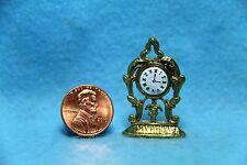 Dollhouse Miniature Gold Tone Mantle Clock ~ IM65419