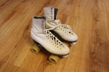 Riedell White Leather Roller Skates Women's 6 1/2 Used Powell Bones USA