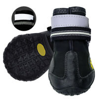 Waterproof Dog Shoes for Large Dogs Reflective Rubber Outdoor Anti-Slip Booties