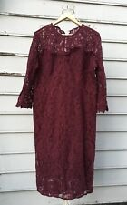 EVA MENDES Collection Burgundy Lace Dress Size 20 +