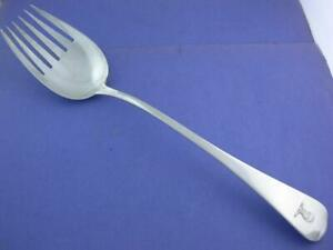 "George III Silver 11 3/8"" Serving Fork WM ELEY WM FEARN London c1807 w/ crest"