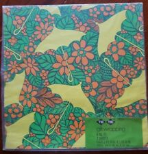 SHOWER Gift Wrap Tie Tie psychedelic yellow orange green floral VTG