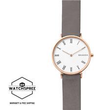 Skagen Slim Hald Grey Leather Watch SKW2674