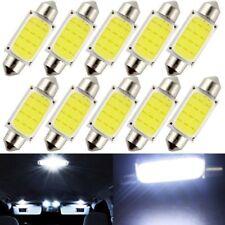 100pcs 41mm Festoon COB 12SMD Car LED Bulb Interior Indicator Lights White 12V