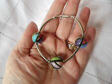 Crafted In Wiltshire Ceramic Bracelet Statement Multicolour Tones Hand Painted &