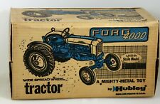Vintage Hubley FORD 4000 Tricycle TRACTOR~Blue & Gray~NICE ORIGINAL Farm Toy!