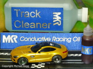 MKR Pit Kit 400ml Track Cleaner and 10ml Conductive Slot Car Racing Oil.