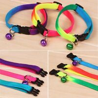 19 - 32cm with Bell Rainbow Collar Pet Cat Kitten Small Dog Puppy Bright Colored