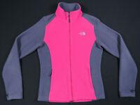 The North Face TNF Flashdry Color Block Pink Gray Full Zip Womens Fleece Jacket