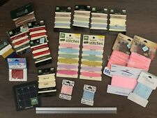 Lot of 21 Majority Making Memories & other brands Ribbon, stitches, pad,