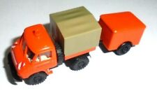 truck 1/87 BREKINA 39106 MERCEDES BENZ UNIMOG 411 c/REMOLQUE MANTENIMIENTNEW BOX