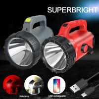 200000LM 7070 LED COB Flashlight USB Rechargeable Spotlight Search Light Lantern