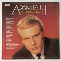 ADAM FAITH ~ 24 GOLDEN GREATS ~ 1981 UK STEREO VINYL LP RECORD ~ WARWICK WW 5113