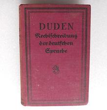 Duden Rechtschreibung der deutschen Sprache 1926 old German reference book 1920s