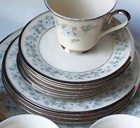 Vintage Lenox Windsong Platinum Rim China LOT Plates Cups & Saucers +  EUC