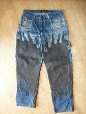Fubu Baggy Jeans W 36 echtes Leder Art of Design Hip Hop sagging  leather gay