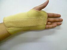 SMALL LEFT HAND WRIST Beige Skin Neoprene ADJUSTABLE Support Splint Guard Injury