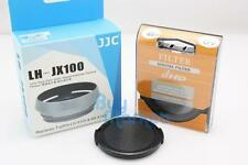 JJC LH-JX100 & 49mm UV & 55mm Cap re. LH-X100 lens hood for Fujifilm X100V X100T