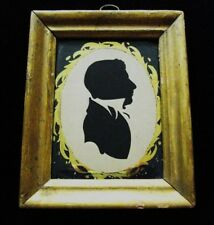 Very Folky American Antique Silhouette Early 19th Century