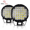 2X 9inch 225W Black LED Round Work Light Spot Driving HeadLight offroad Boat