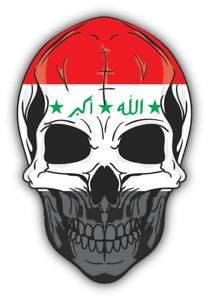 "Skull Flag Iraq Car Bumper Sticker Decal ""SIZES''"