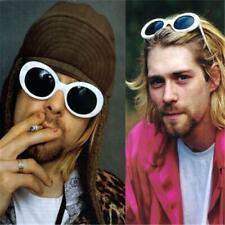 White Clout Goggles Round Oval Vintage Kurt Cobain Fashion Sunglasses