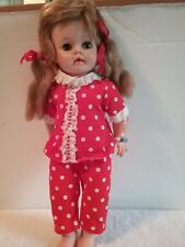Vintage Eegee EG Baby Doll Original Clothes Eyes Open & Close w/ Pigtails