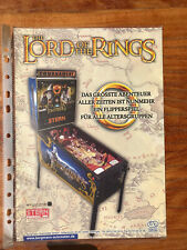 Pinball Flyer: Lord Of The Rings | Perfect Condition