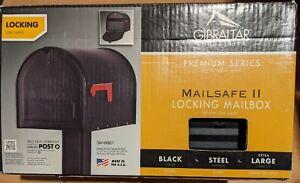 **Locking** MAILSAFE II Extra-Large Mailbox (Gibraltar SM16KB01) Black Steel