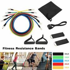 11Pcs Fitness Latex Resistance Bands Set Training Exercise Yoga-Gym Elastic Band