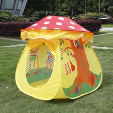 Tragbare Kinder jungen Mädchen Spielzeug Pilz Zelt Spielhaus