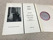 SALON MUSIC Godard Gade Sitt GOEBEL TRIO LP MHS 1159 Musical Heritage Society