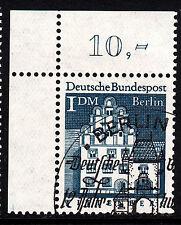 ❷❷  Berlin 282 ESST mit Gummi Ecke 1 Eckrand 1 oben links OL gesempelt