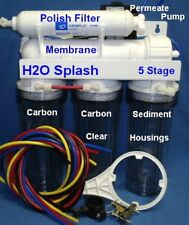 5 Stage Reverse Osmosis System 50 GPD +Permeate Pump / RO Water Filter