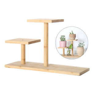 Bamboo 3 Tier Plant Stand For Table Flower Pot Holder Succulent Plants Bonsai
