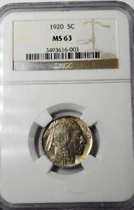 1920 P NGC MS 63 Buffalo Head Nickel
