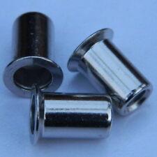 50 Nietmuttern M8 Edelstahl A2 Flachkopf  ger KB 1,5-3,0mm  VA  V2A