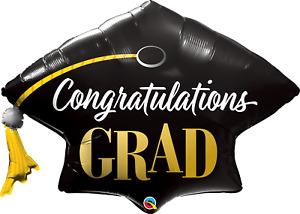 """Congratulations Grad  41"""" Cap  Shaped Foil Mylar Balloon"""