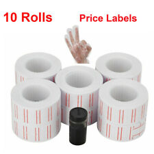 600/ Rolls Price Gun Tag Sticker Label Refill Red Lines for Mx-5500 Price Labels